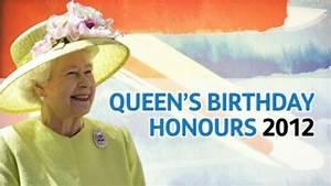 Queen's Birthday Honours List - ITV News
