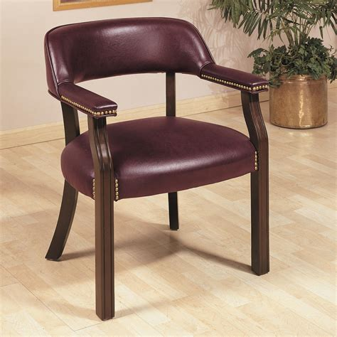 bankers chair without casters burgundy