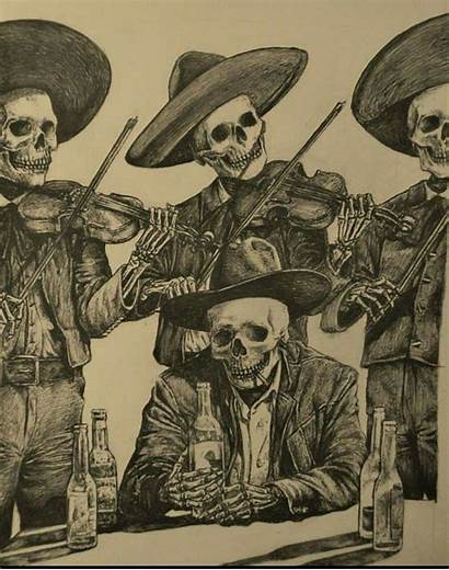 Mexican Tattoos Skull Chicano Skeleton Tattoo Drawings