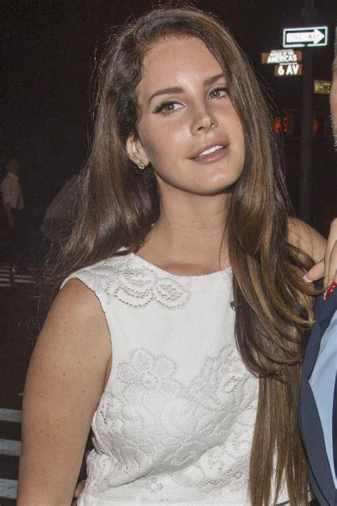 Lana Del Rey Straight Medium Brown Long Layers Side Part
