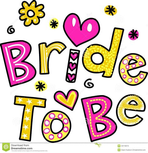 Cute Bridal Shower Themes by Bride To Be Stock Illustration Image 43719074