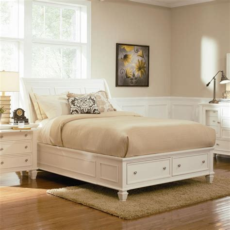coaster  white queen size wood bed steal  sofa