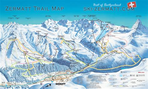 zermatt switzerland ski map piste map trail map