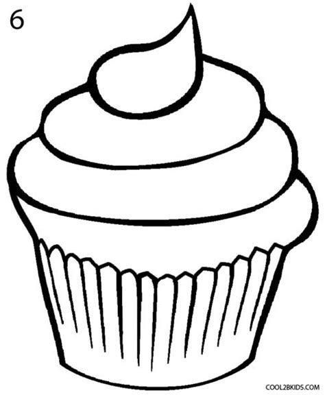 How To Draw A Cupcake (step By Step Pictures) Cool2bkids