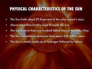 Physical Characteristics Of The Sun - Free worksheets ...