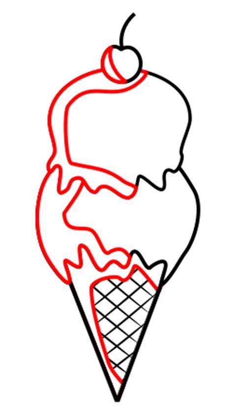 drawing  cartoon ice cream cone