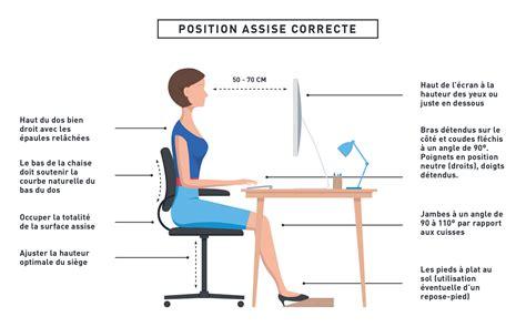 bonne posture au bureau assis au bureau toute la journ 233 e quels sont les dangers