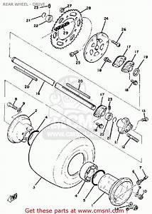 Yamaha Rc100s  Kt100s Race Kart Rear Wheel