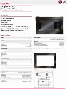Lg Lcrt2010bd User Manual Specification Lcrt2010 Spec Sheet