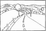 Coloring Landscape Road Scenery Landscapes Printable Simple Coloring4free Countryroad Drawing Landscaping Drawings Colouring Outline Sheets Colour Adult Teaching Categories Scenic sketch template
