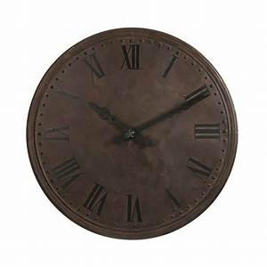 Horloge En Metal : horloge ronde avec chiffres romains 112cm en m tal maison et styles ~ Teatrodelosmanantiales.com Idées de Décoration