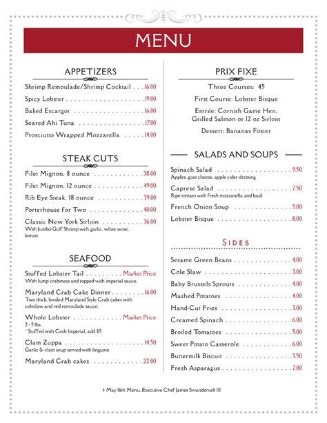 kitchen design program for menu exle