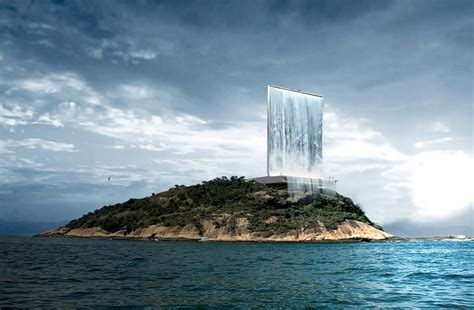 Gigantic Solar Waterfall For 2016 Olympics