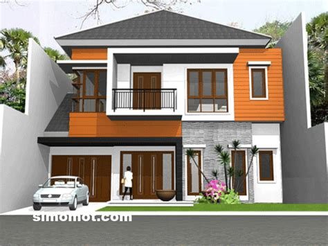 desain eksterior rumah minimalis  lantai tambahan