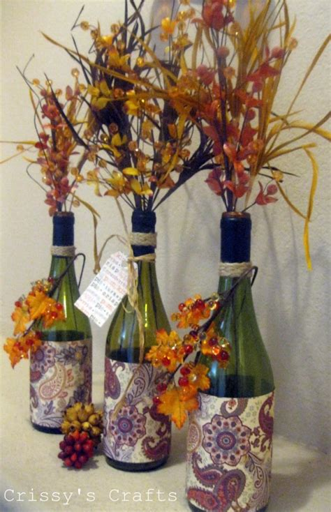 fall craft decorations fall craft ideas using recycled materials rustic crafts chic decor