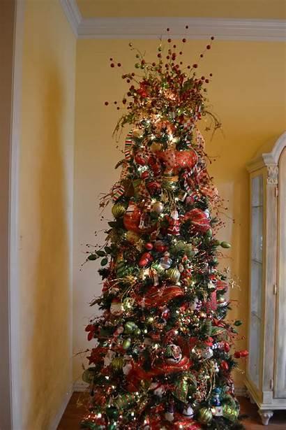 Ribbon Christmas Mesh Tree Trees Decorating Decorations