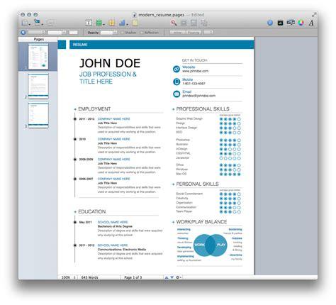 Modern It Resume Template by Modern Resume Template Mactemplates