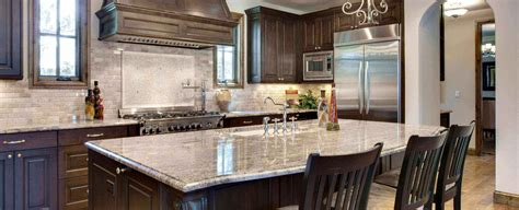 granite countertops with brown cabinets michigan granite countertops great lakes granite marble