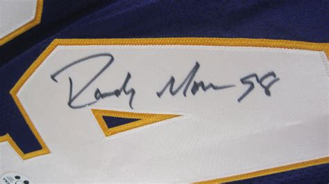 Lot Detail Randy Moss 1998 Autographed Rookie Of The