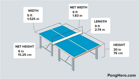 what are the dimensions of a table tennis table ping pong table dimensions
