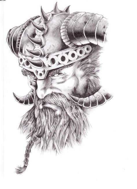 warrior viking head tattoo design tattoobitecom ink