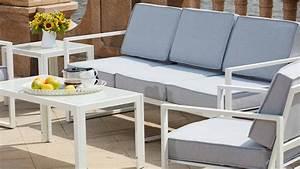 Canapé Jardin Pas Cher : salon de jardin 5 places en aluminium ~ Premium-room.com Idées de Décoration