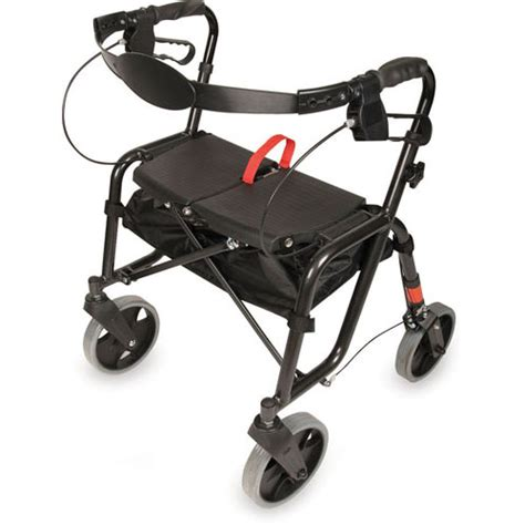 pcp folding lightweight rollator walker seat more rewards