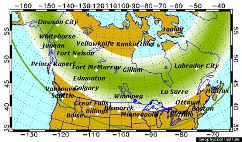 northern lights viewing map northern lights vancouver may be spotted this weekend