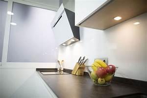 Cocinamoderna, Blanca, Con, Encimera, Porcel, U00e1nica, Y, Una
