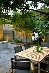 60 photos comment bien amenager sa terrasse amenagement With fontaine exterieure de jardin moderne 10 amenagement de jardin et terrasse moderne en 42 photos