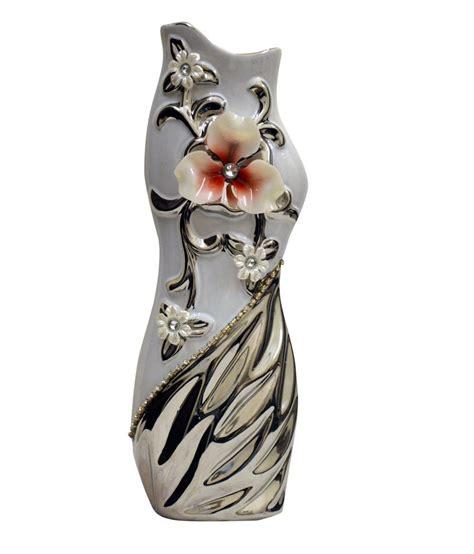 The Boat Store by The Boat Store Multicolour Ceramic Fiber Glass Vase