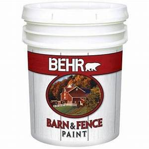 behr paint 5 gal white exterior barn and fence paint 3505 With behr barn and fence paint colors