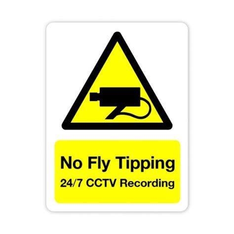 fly tipping  cctv sign   mm