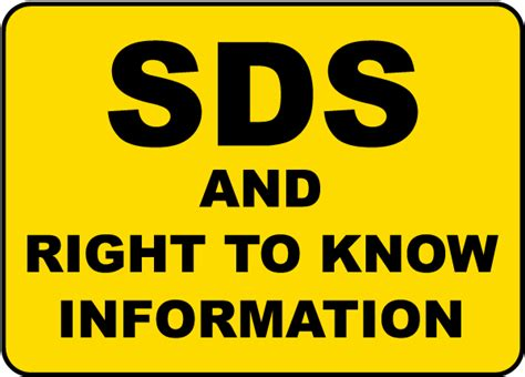 Osha Stands For by Sds Amp Right To Know Sign By Safetysign Com H1679