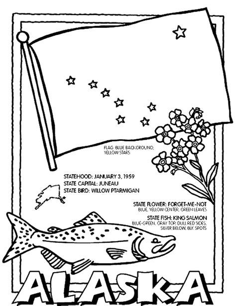 alaska coloring page coloring home