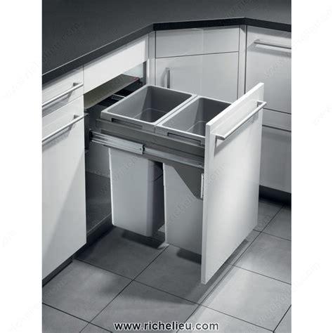 richelieu kitchen accessories richelieu 461450100 soft closing cargo recycling 1965