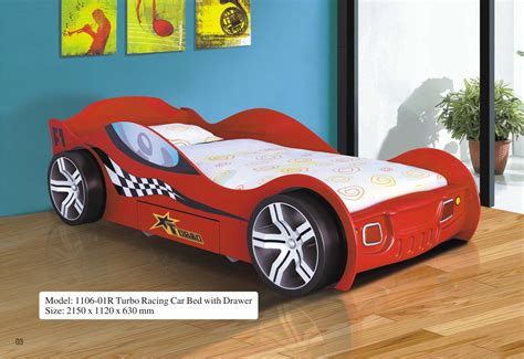 Turbo Racing Car Bed WDrawer