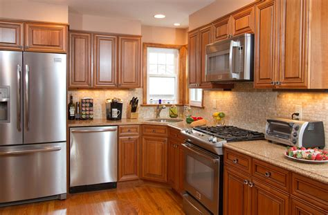 kitchen decoration kitchens  brown cabinets blue walls