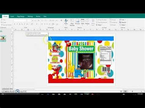 diy tutorial chip bag template publisher  microsoft