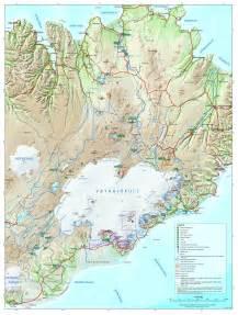 Iceland Vatnajokull National Park Map