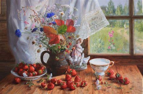 Русский художник Владимир Жданов Чайные натюрморты