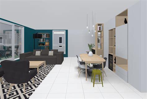 cote cuisine lyon réalisation bleu pétrole et gris basalt skéa designer