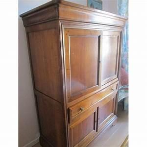 meuble tv hifi style louis philippe en merisier massif With meuble merisier style louis philippe
