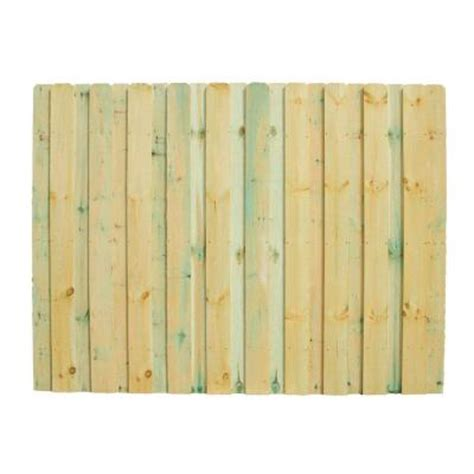 6 ft x 8 ft pine pressure treated heavy duty board on board fence panel