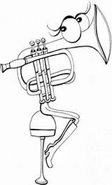 Instruments Pages Brass Coloring Template sketch template