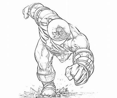 Juggernaut Coloring Marvel Ultimate Alliance Fist Iron