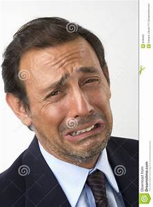 Portrait Of A Sad, Crying Man Stock Photography - Image ...