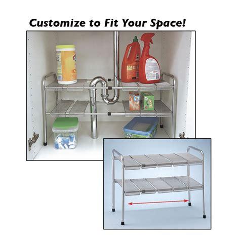 kitchen sink organizer shelf 2 tier expandable adjustable sink shelf storage