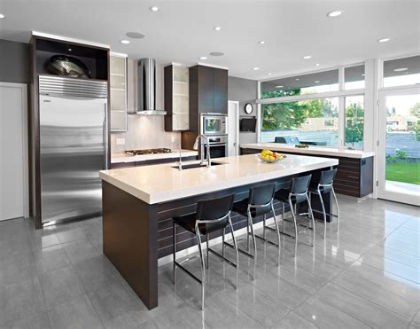modern homes pictures interior frosted glass kitchen cabinets kitchen contemporary with