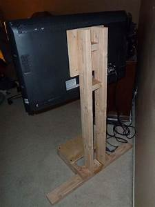 $10 LCD TV Floor Stand Diy tv, TVs and Board